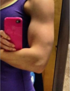 arm selfie post workout