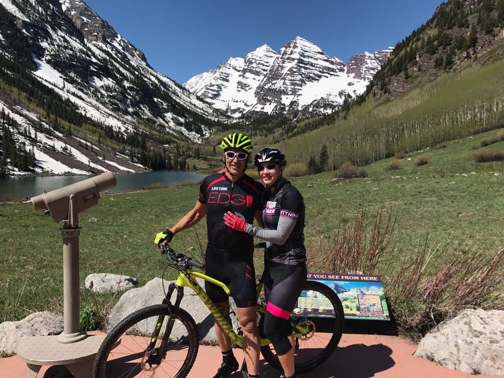 Emily and Braham Mountain Biking