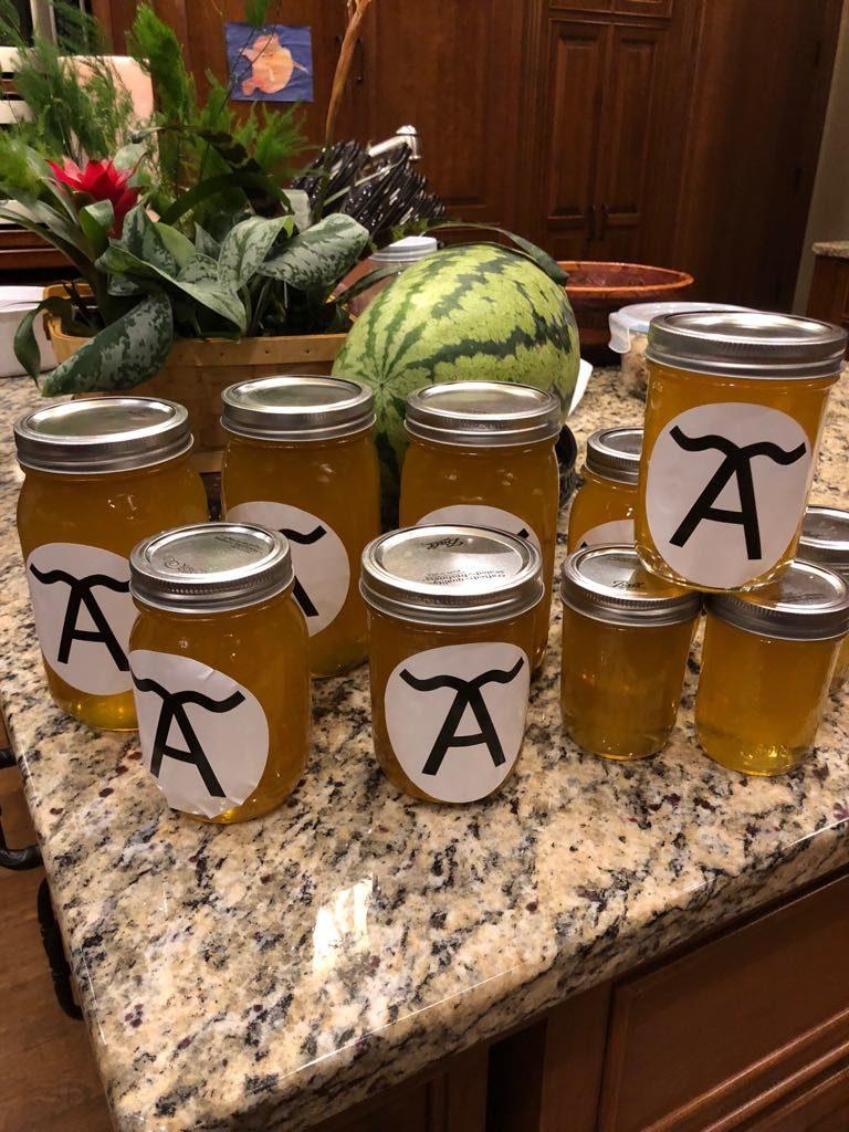 Jars of natural, raw, local honey