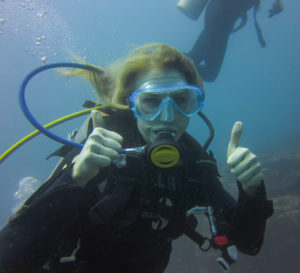 Emily Akradi Scuba Diving