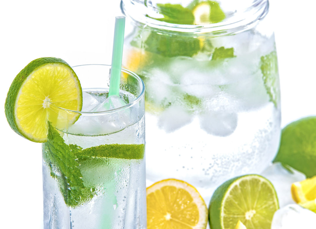 Stay Hydrated - water lime and mint